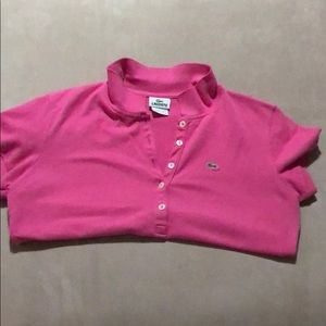 Pink mini Lacoste polo